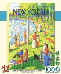 Sunday Afternoon in Central Park (The New Yorker) Contemporary & Modern Art Jigsaw Puzzle